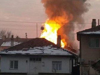 5 kişilik Suriyeli ailenin yaşadığı ev yandı