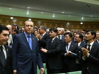 Erdoğan Aşkabat'ta konsere katıldı