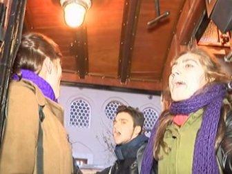 Taksim-Tünel tramvayını işgal ettiler