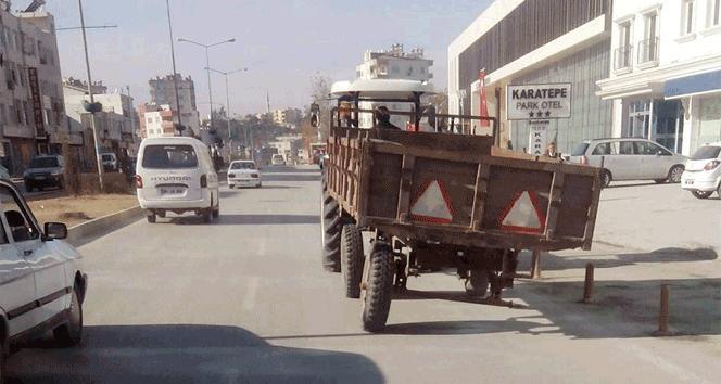 Tekerleksiz trafiğe çıktı