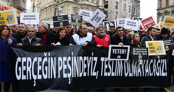 Gazetecilerden, 'Çalışan Gazeteciler Günü' eylemi