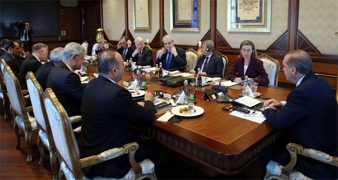 AB temsilcileri Cumhurbaşkanlığı Külliyesi'nde