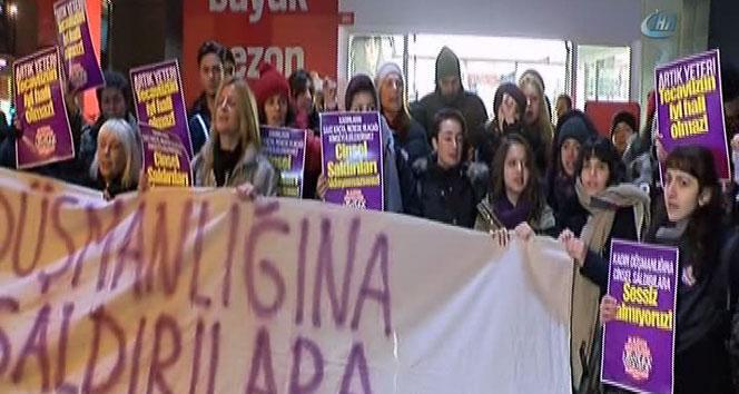 Bağdat Caddesi'nde kadına şiddet protestosu