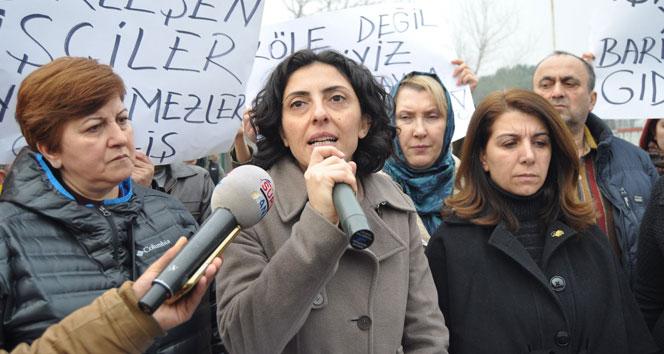 İşçilerin eylemine CHP'li vekil desteği
