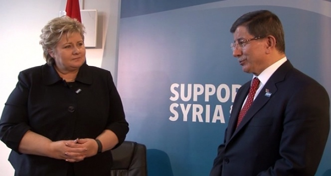 Davutoğlu, Norveç Başbakanı ile görüştü