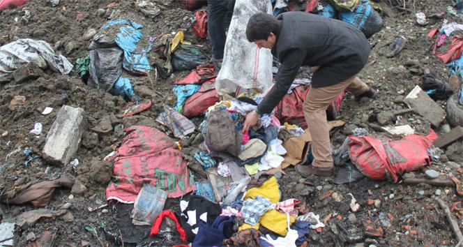 Türkmenler için toplanan yardımlar çöpten çıktı