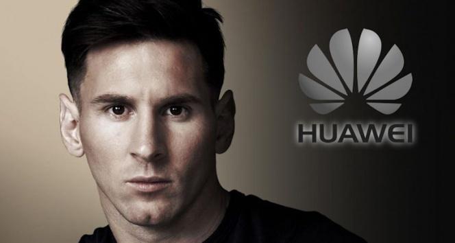 Lionel Messi, Huawei'nin  marka yüzü oldu
