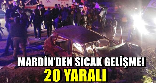 Mardin'de Otomobil ile minibüs çarpıştı: 20 yaralı
