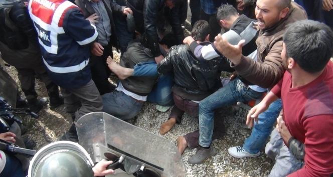 Konya'da 'kuyu' arbedesi