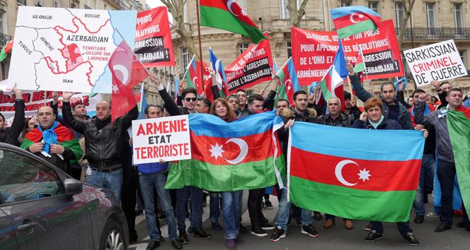 Paris'te Ermenistan protesto