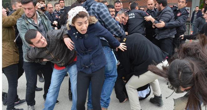 Eskişehir'de Anadolu Üniversitesi'nde arbede