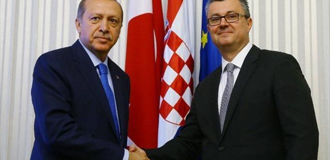 Erdoğan Hırvat Başbakan'la görüştü