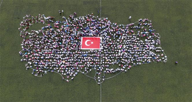 2 bin çocukla dev Türkiye haritası