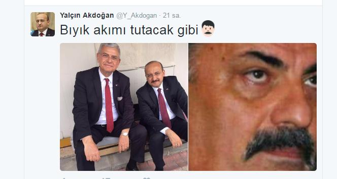 Yalçın Akdoğan'dan şaşırtan paylaşım