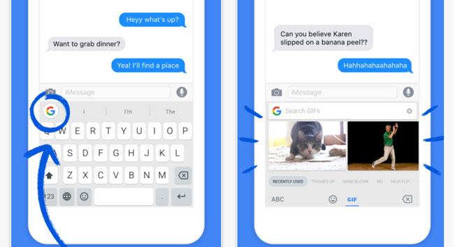Google'dan iPhone'a özel klavye