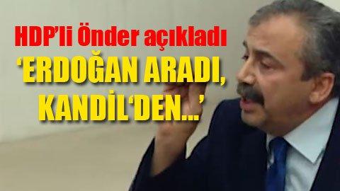 HDP'li Önder'den şok Kandil iddiası