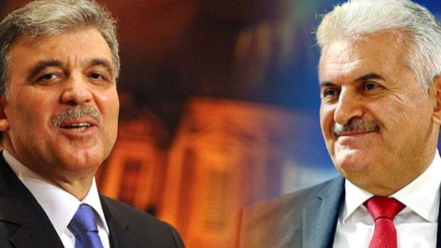 Abdullah Gül'den, Binali Yıldırım'a tebrik