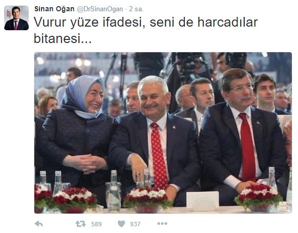 Sinan Oğan'dan Davutoğlu'nu çıldırtacak tweet