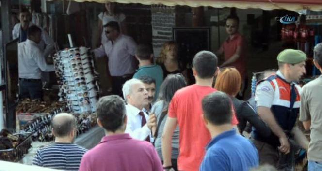 Tesis sahipleriyle turistler arasında sopalı kavga