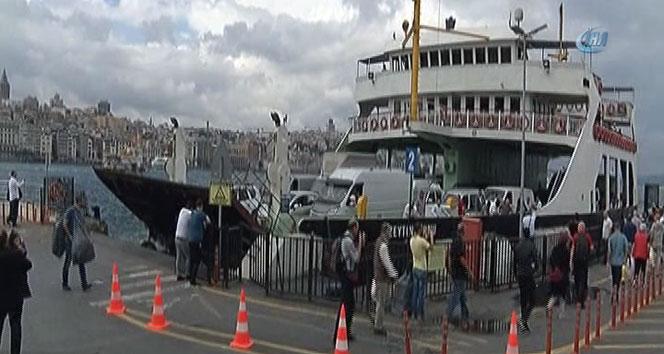 İstanbul'da korkutan vapur kazası