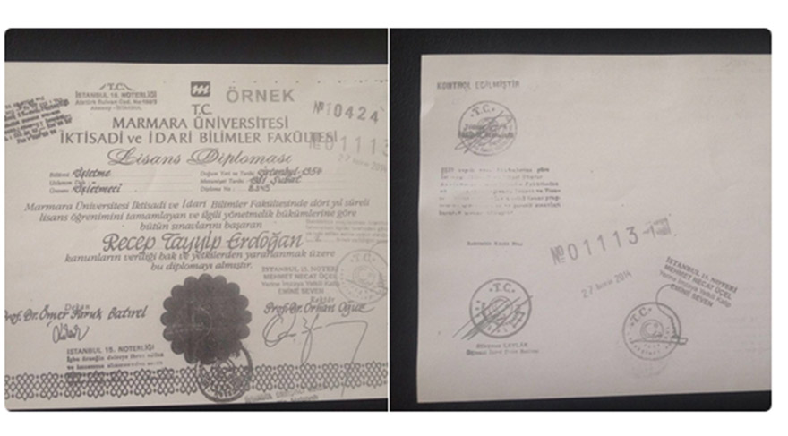 İşte Erdoğan'ın diploması