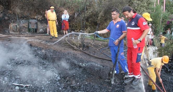 Fethiye'de korkutan yangın