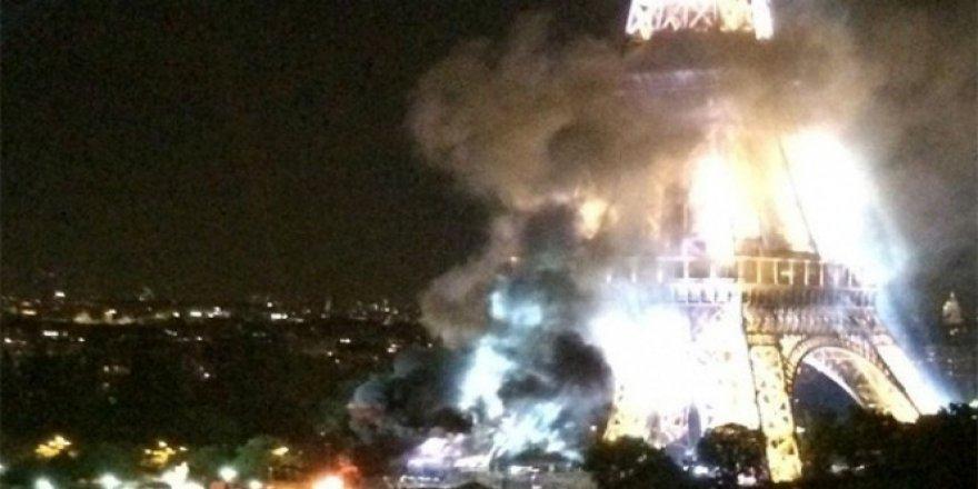 Eyfel Kulesinden dumanlar yükseliyor!