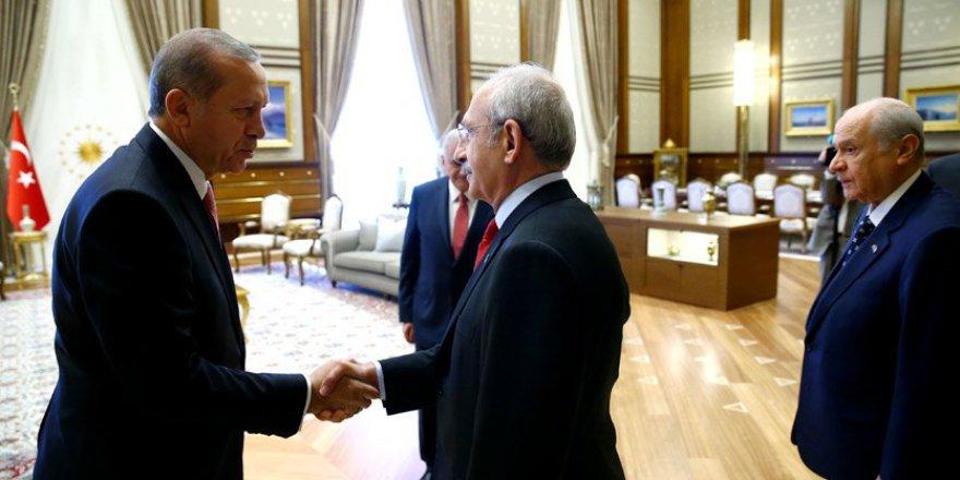 Cumhurbaşkanlığı Külliyesi'nde liderler zirvesi! AKP , CHP ve MHP..