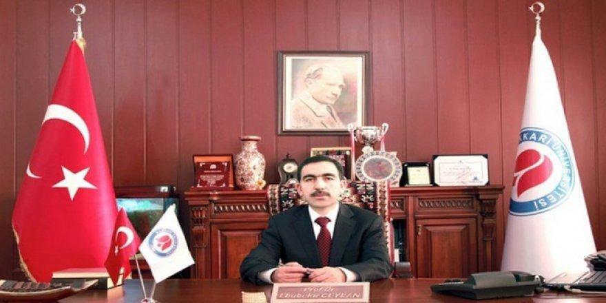 Hakkari Üniversitesi Rektörü gözaltında