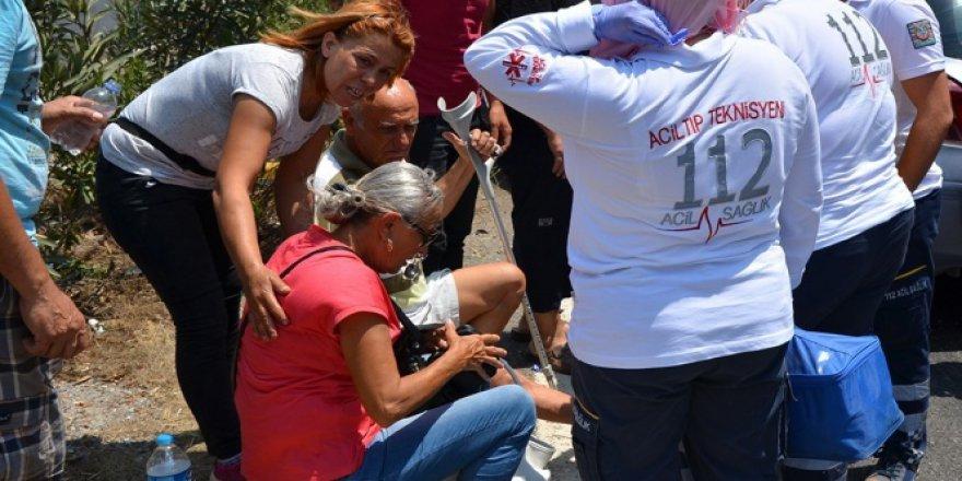 Milas'ta engelli sürücü TIR'a çarptı