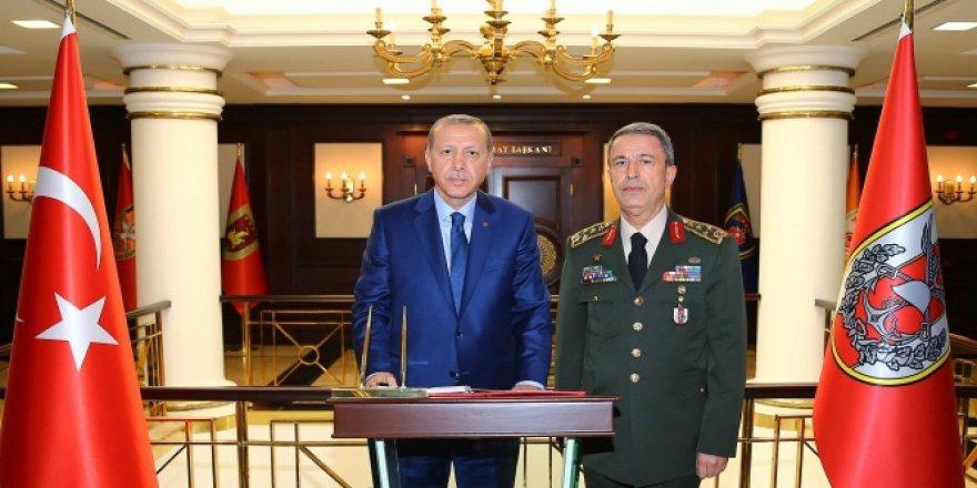 Erdoğan Genelkurmay Başkanlığı'nda