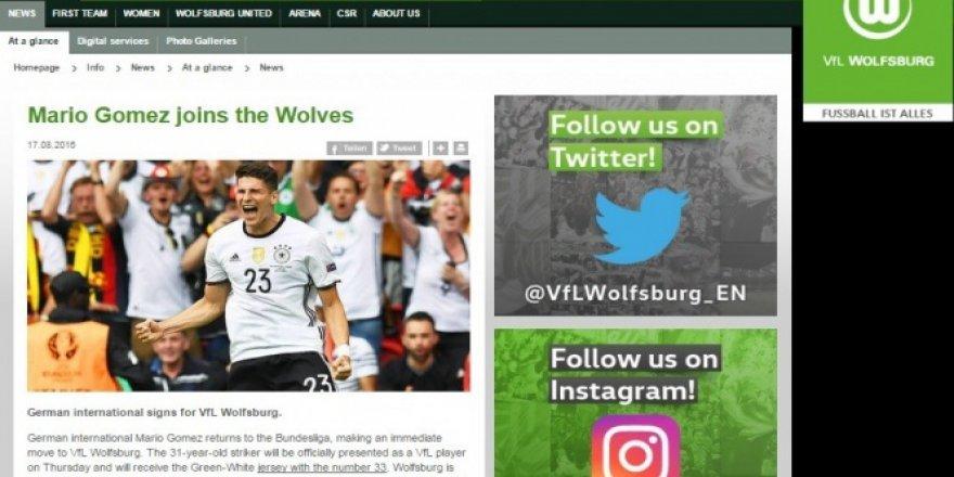 Mario Gomez, Almanya ekibi Wolfsburg'a transfer oldu