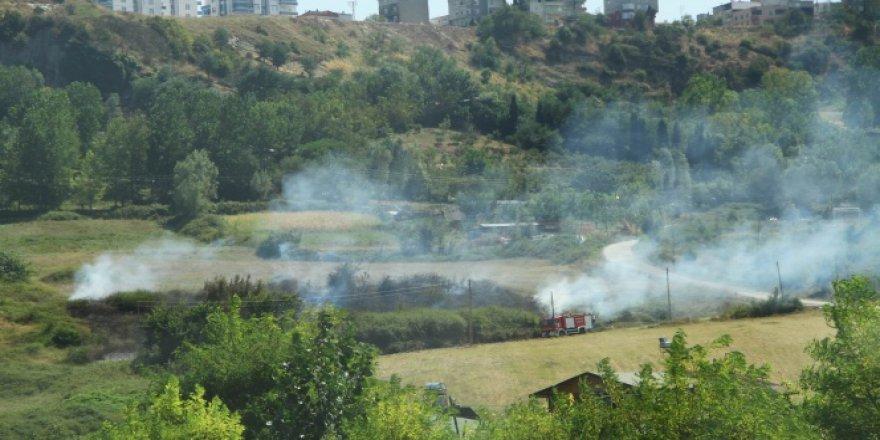 Samsun'da örtü yangını