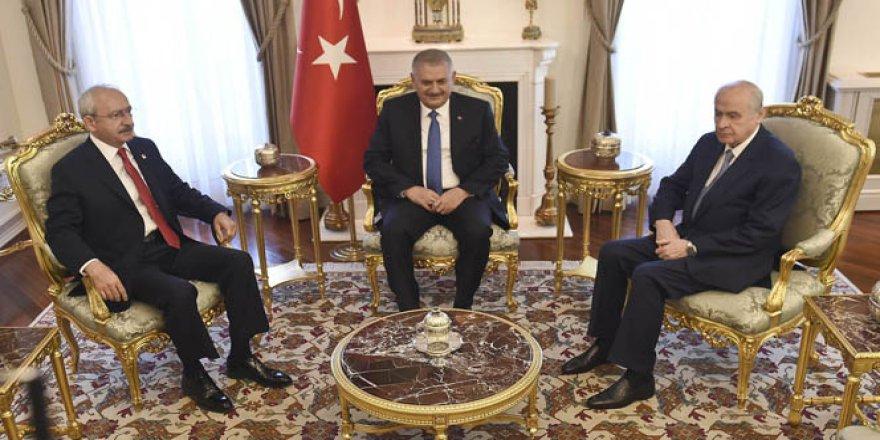 Kılıçdaroğlu ve Bahçeli Başbakanlık'ta