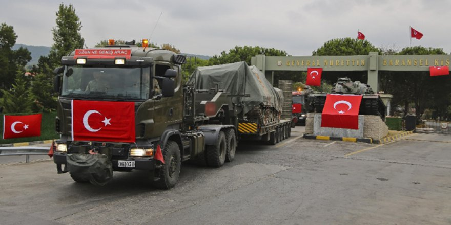 İstanbul'daki tanklar hızla taşınıyor