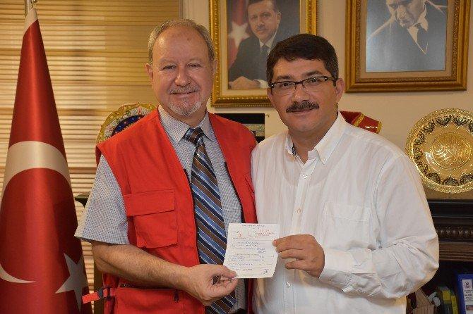 Kızılay'a Bir Kurban Bağışı Da Başkan Çelik'ten