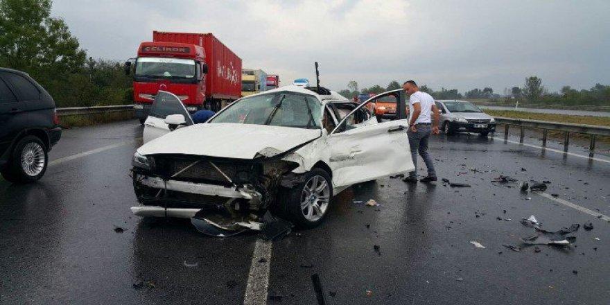 Düzce'de Yağmur Kazası: 4 Yaralı