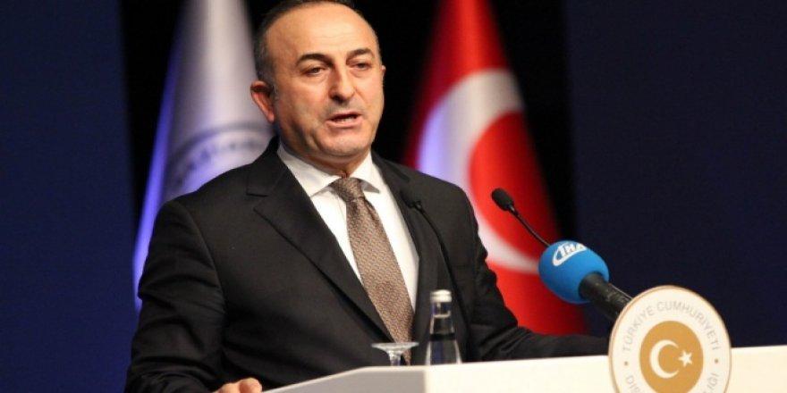 """Çavuşoğlu """"Türkiye'ye diz çöktüremeyeceksiniz"""""""