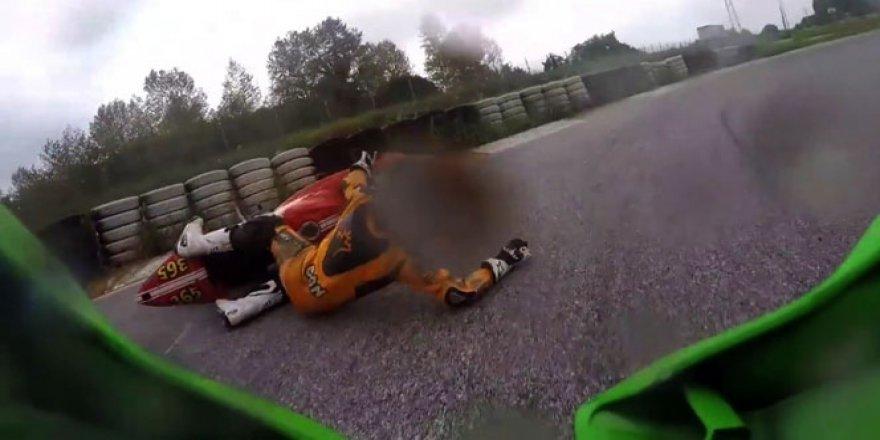 Dünya Motorsiklet Şampiyonu Kenan Sofuoğlu böyle kaza yaptı!