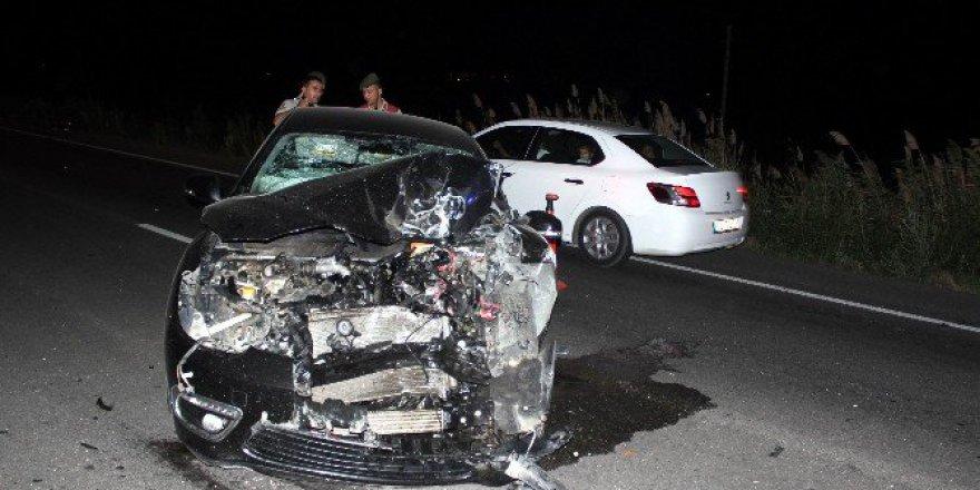 Manisa, Salihli'de Trafik Kazası: 2 Yaralı