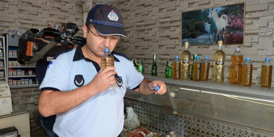 Bursa, Orhangazi'de Zabıtadan sahte içki operasyonu