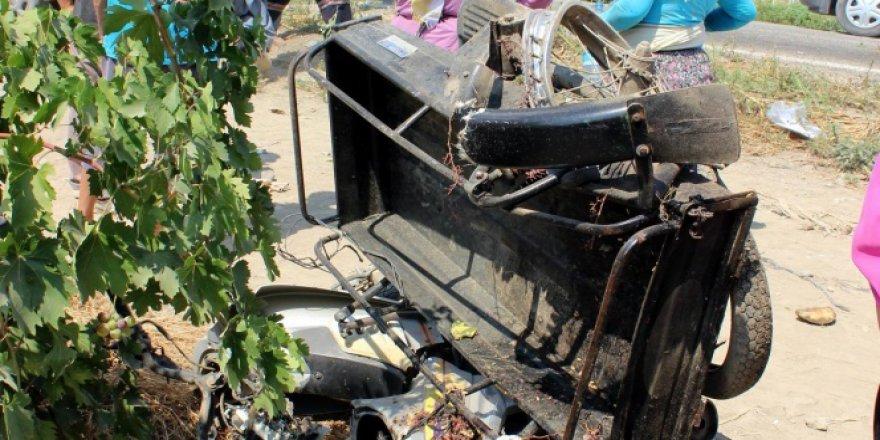 Manisa, Salihli'de trafik kazası: 1 ölü, 1'i ağır 3 yaralı
