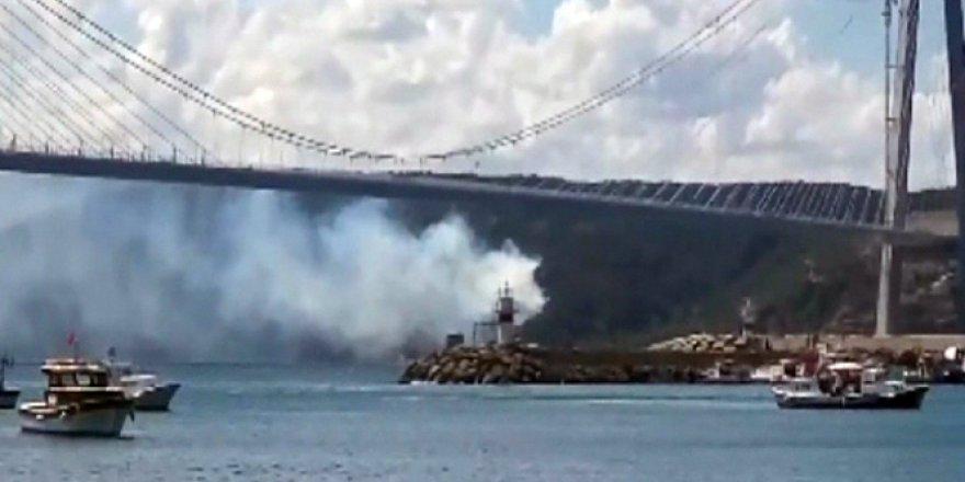 3. Köprü (Yavuz Sultan Selim Köprüsü)  yakınında korkutan yangın!