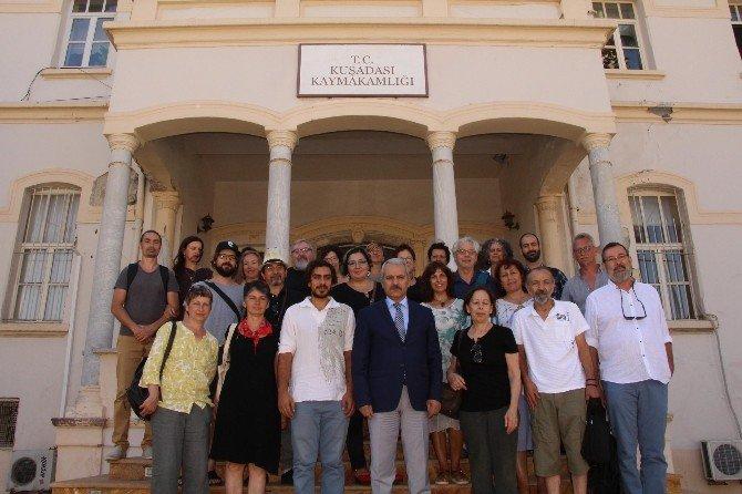 Konuk Sanatçılar Kaymakam Aksoy Ve Başkan Kayalı'yı Ziyaret Etti