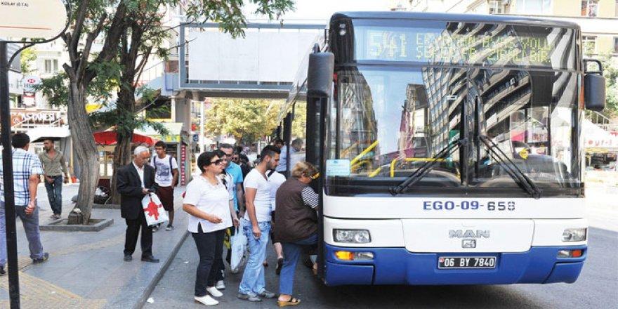 EGO otobüsleri bayram süresince ücretsiz!