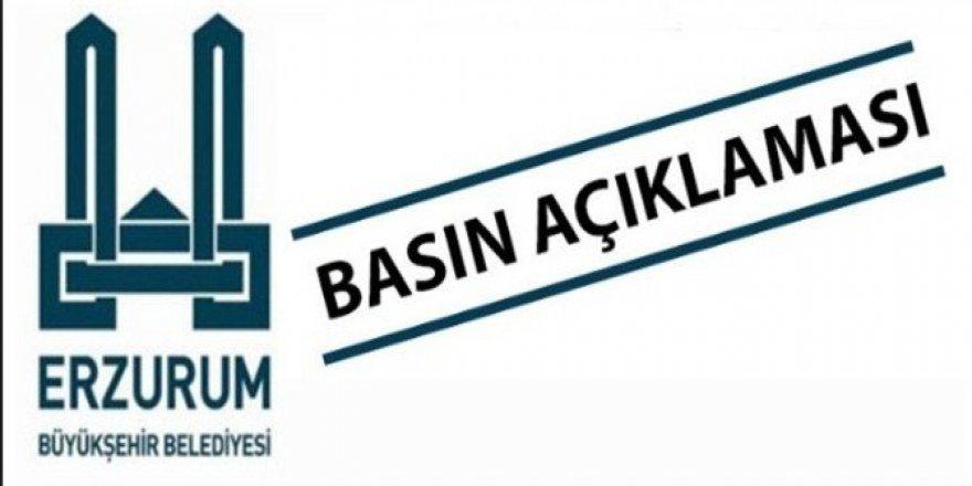 Erzurum Büyükşehir Belediyesinden Su Açıklaması!