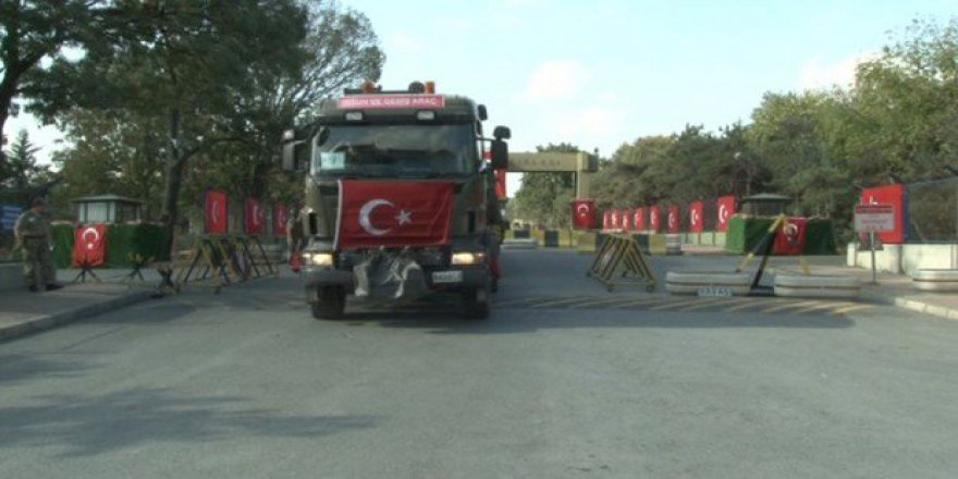 Askeri Araçlar Mehter Marşı İle Uğurlandı