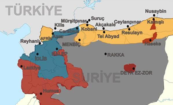 Suriyeli Kürtler'in hedefine bakın!
