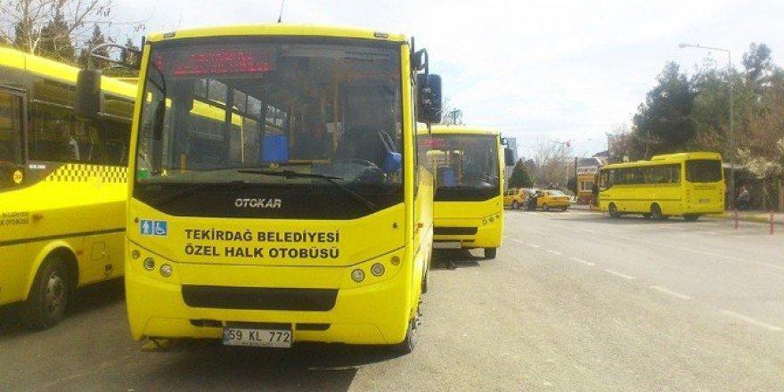 Tekirdağ'da Kurban Bayramı'nda Ücretsiz Ulaşım Hizmeti