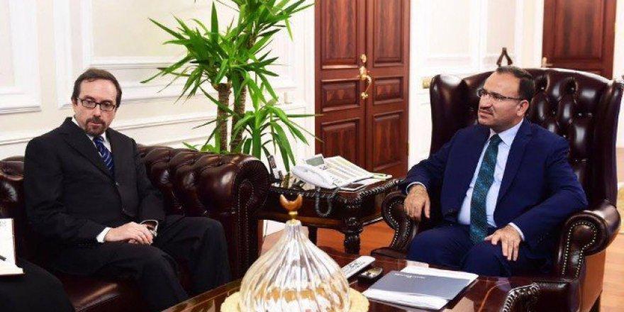 Adalet Bakanı Bozdağ, ABD Büyükelçisi John Bass'ı Kabul Etti